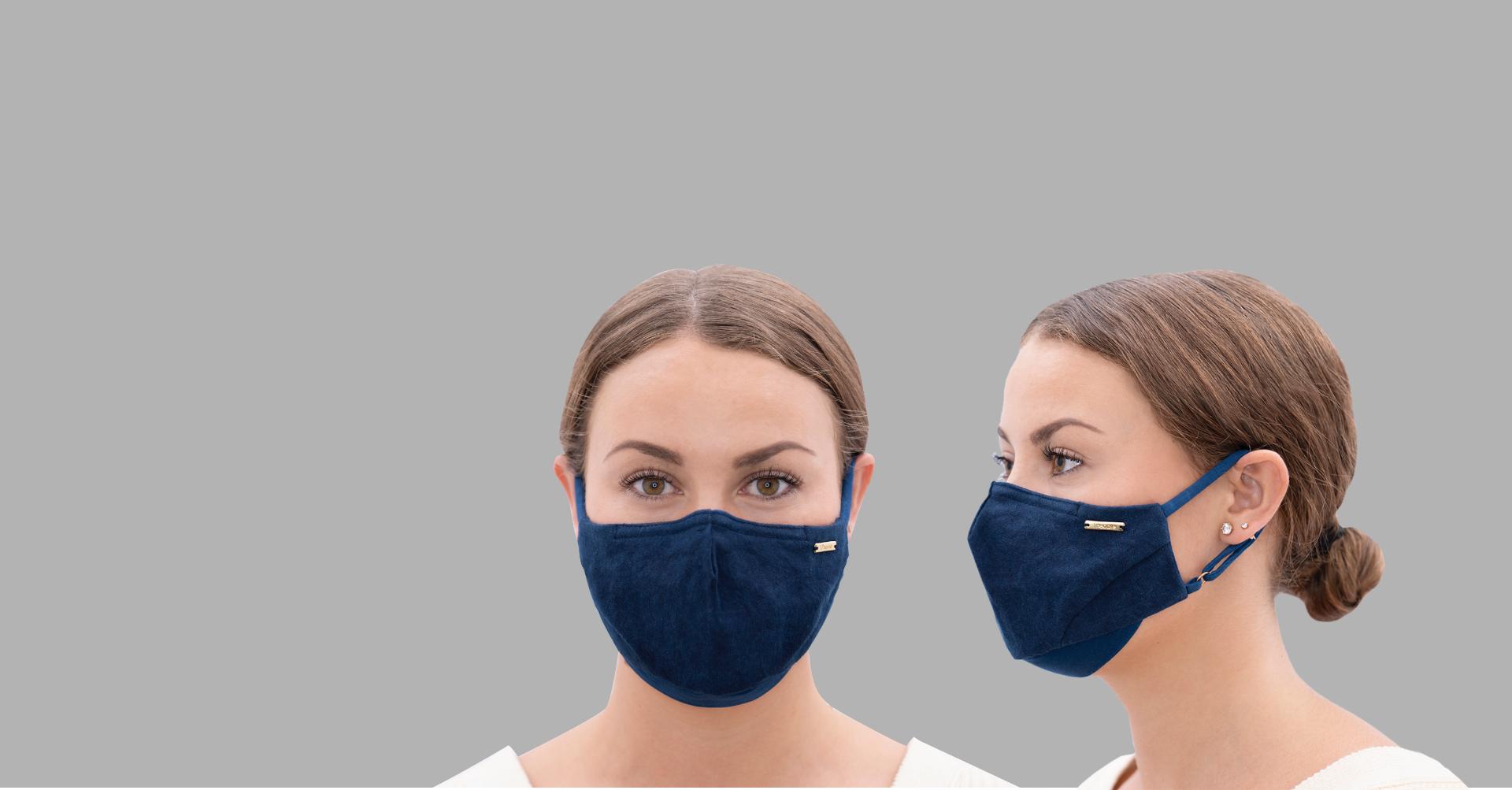 Stay Vigilant. Stay Elegant. Sustainable Luxury Stylish Face Mask by 1 People