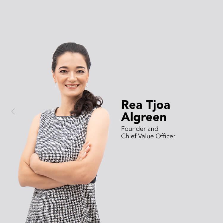Our CVO, Rea Tjoa Algreen.